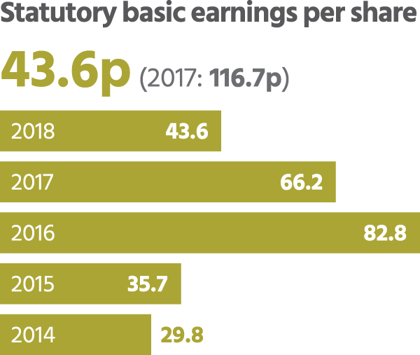 Statutory basic earning per share